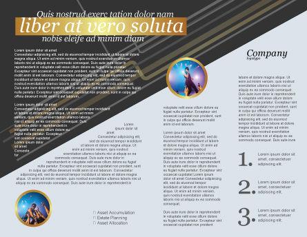 Stars Brochure Template, Inner Page, 03006, Careers/Industry — PoweredTemplate.com