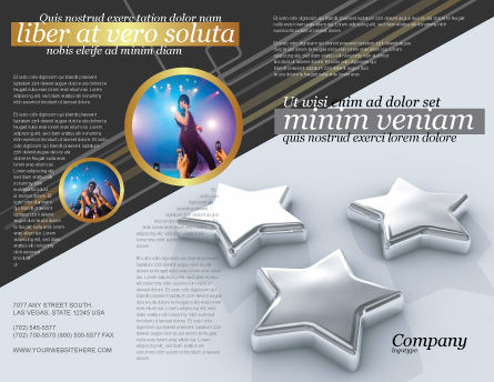 Stars Brochure Template, Outer Page, 03006, Careers/Industry — PoweredTemplate.com