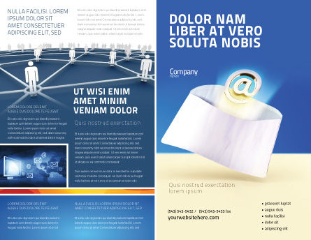 Youve Got Email Brochure Template Design And Layout Download Now - Email brochure template