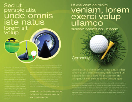 Golf Ball In The Nest Brochure Template, Outer Page, 03010, Sports — PoweredTemplate.com
