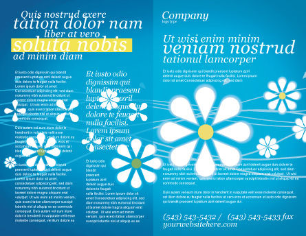 Spring Brochure Template Outer Page
