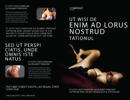 Sexy Brochure Template, Outer Page, 03012, Art & Entertainment — PoweredTemplate.com