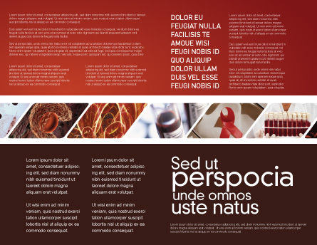 Red Corpuscles Brochure Template, Inner Page, 03014, Medical — PoweredTemplate.com
