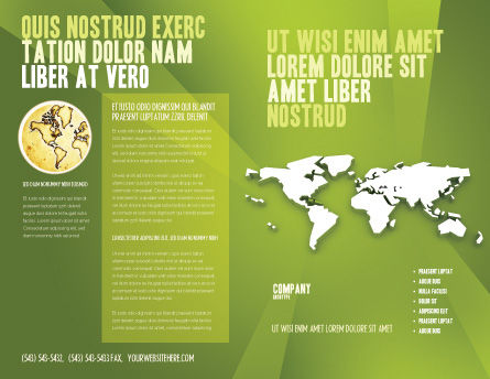 Whole World Brochure Template Outer Page