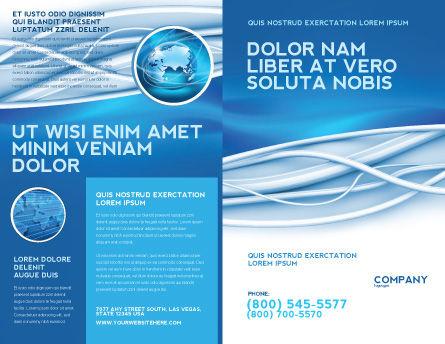 Art Design Brochure Template, Outer Page, 03016, Telecommunication — PoweredTemplate.com
