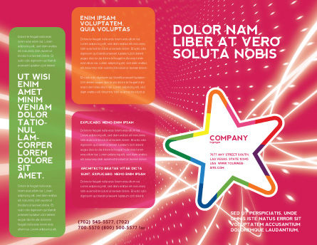 Disco Star Brochure Template, Outer Page, 03020, Art & Entertainment — PoweredTemplate.com