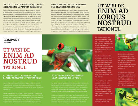 Toad Brochure Template, Inner Page, 03024, Agriculture and Animals — PoweredTemplate.com