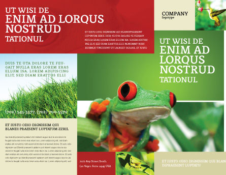 Toad Brochure Template, Outer Page, 03024, Agriculture and Animals — PoweredTemplate.com