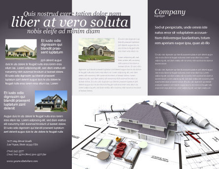 Townhouse Project Brochure Template Outer Page