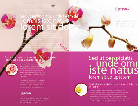 Bouquet Of Flowers Brochure Template, Outer Page, 03033, Nature & Environment — PoweredTemplate.com