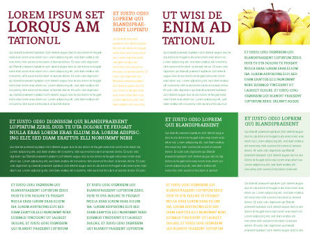 Red Apple Brochure Template, Inner Page, 03041, Agriculture and Animals — PoweredTemplate.com