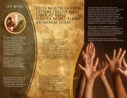 Hands Up Brochure Template, Inner Page, 03060, Education & Training — PoweredTemplate.com