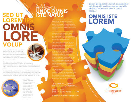 Puzzle Complete Brochure Template Outer Page