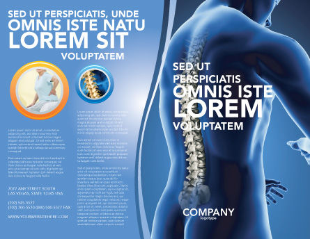 Spine Brochure Template, Outer Page, 03062, Medical — PoweredTemplate.com
