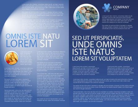 Bones Brochure Template, Inner Page, 03063, Medical — PoweredTemplate.com