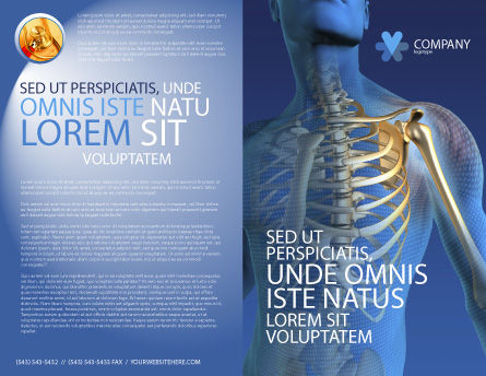 Bones Brochure Template, Outer Page, 03063, Medical — PoweredTemplate.com
