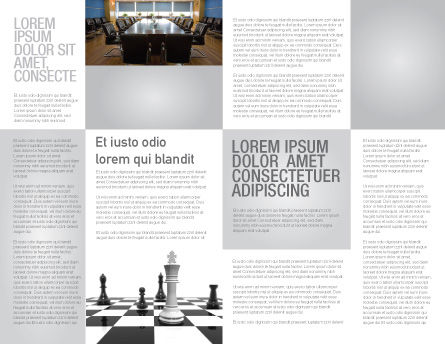 Chess White Begin And Win Brochure Template, Inner Page, 03069, Business Concepts — PoweredTemplate.com