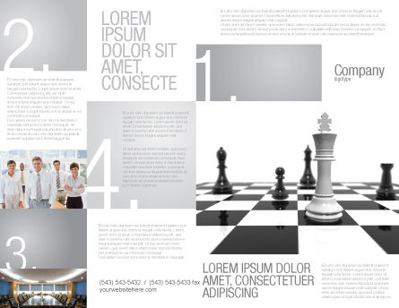 Chess White Begin And Win Brochure Template, Outer Page, 03069, Business Concepts — PoweredTemplate.com