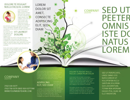 Knowledge Brochure Template Outer Page