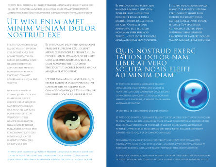 Blue Yin Yang Brochure Template, Inner Page, 03073, Religious/Spiritual — PoweredTemplate.com