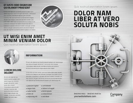 Bank Safe Brochure Template, Outer Page, 03078, Technology, Science & Computers — PoweredTemplate.com