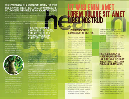 Green Health Brochure Template, Inner Page, 03083, Nature & Environment — PoweredTemplate.com