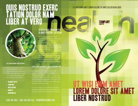 Green Health Brochure Template, Outer Page, 03083, Nature & Environment — PoweredTemplate.com