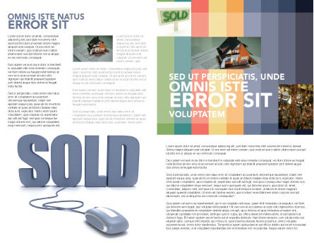 Sold Brochure Template, Inner Page, 03085, Technology, Science & Computers — PoweredTemplate.com
