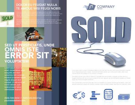 Sold Brochure Template Outer Page