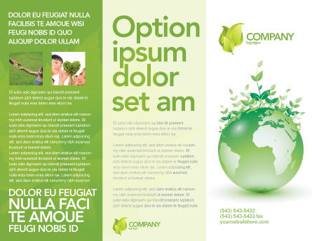 Green Environment Brochure Template, Outer Page, 03091, Nature & Environment — PoweredTemplate.com