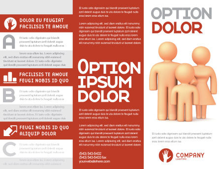 Family Care Brochure Template, Outer Page, 03094, Consulting — PoweredTemplate.com