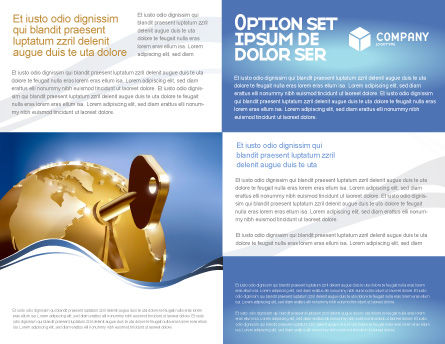 Global Keyhole Brochure Template, Inner Page, 03095, Global — PoweredTemplate.com