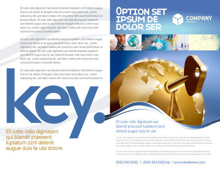 Global Keyhole Brochure Template, Outer Page, 03095, Global — PoweredTemplate.com
