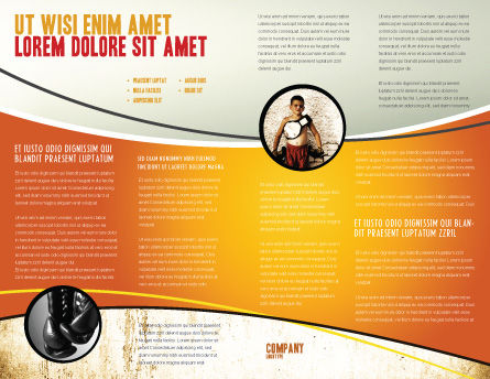 Boxing Gloves Brochure Template, Inner Page, 03113, Sports — PoweredTemplate.com