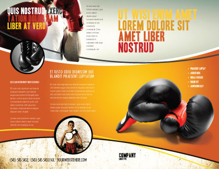 Boxing Gloves Brochure Template, Outer Page, 03113, Sports — PoweredTemplate.com