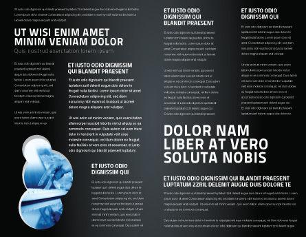 Globe Of Steel Brochure Template, Inner Page, 03141, Global — PoweredTemplate.com