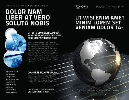 Globe Of Steel Brochure Template, Outer Page, 03141, Global — PoweredTemplate.com