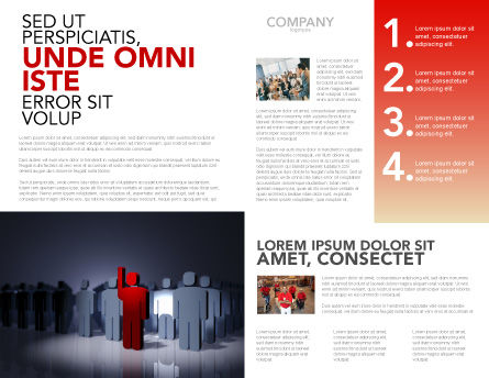 Expressing Opinion Brochure Template, Inner Page, 03145, Consulting — PoweredTemplate.com
