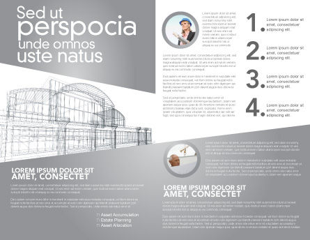 Building Design Brochure Template, Inner Page, 03154, Construction — PoweredTemplate.com