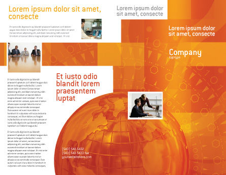 Wide World Business Brochure Template Outer Page