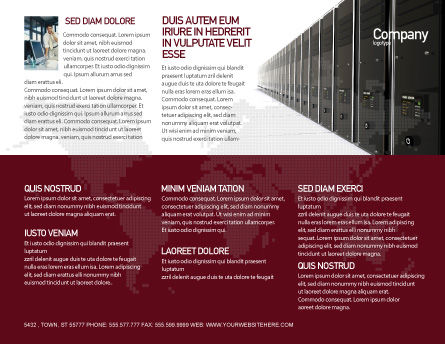 Server Room Brochure Template Outer Page