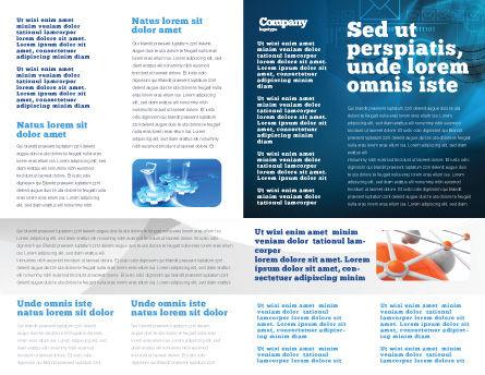 World Online Brochure Template, Inner Page, 03166, Telecommunication — PoweredTemplate.com