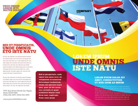 United Nations Brochure Template Outer Page