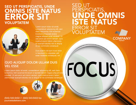 Focus Brochure Template, Outer Page, 03176, Consulting — PoweredTemplate.com