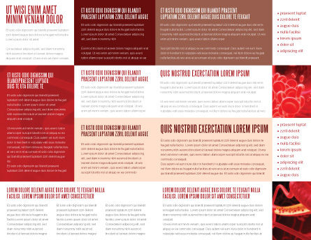 Red Spheres Brochure Template, Inner Page, 03177, Medical — PoweredTemplate.com