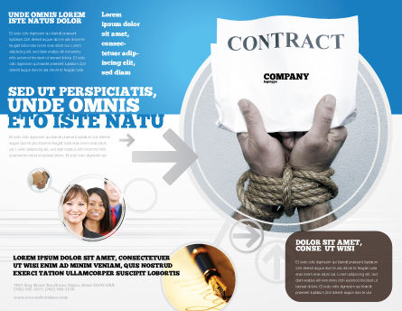 Contract Brochure Template Outer Page