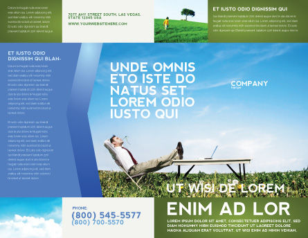Ecological Environment Brochure Template Outer Page