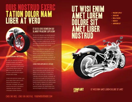 Bike Brochure Template Outer Page