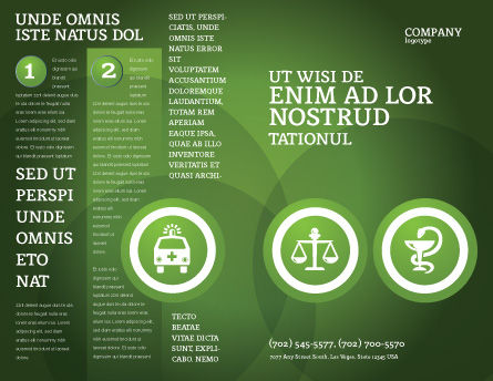 Signs Of Medicine In A Green Colors Brochure Template Outer Page