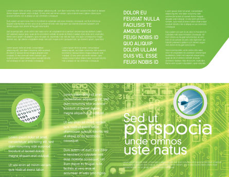 Artificial Intelligence Brochure Template Inner Page